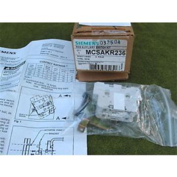 Original SKF Rolling Bearings Siemens MCSAKR236 MSC Auxiliary Switch Kit, Right Hand 2 Pole In Box  Surplus