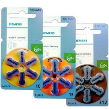 Siemens  Hearing Aid Battery mercury free s-10-13-312 PR-70-41-48-44 eUK