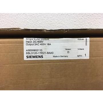 Original SKF Rolling Bearings Siemens Single Motor Module  6SL3120-1TE21-8AA3