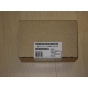 Siemens S7 6ES7 151-3BA60-0AB0 6ES7151-3BA60-0AB0 NEW Sealed