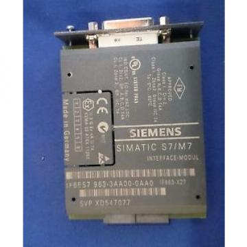 Siemens 6ES7963-3AA00-0AA0 SIMATIC S7-400 IF963-X27 RS-422/485 Interface Module