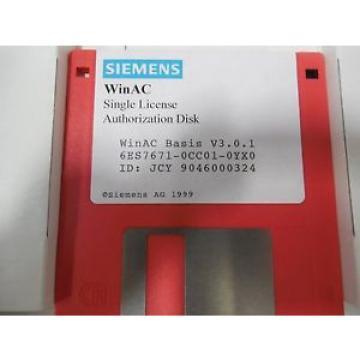Siemens ,6ES7671-0CC01-0YX0,BASIS UPGRADE 3.0.1,SW S/N9046000324
