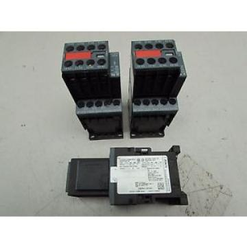 Siemens LOT OF 3QTY SIRIUS 3RT2015-1CK64-3MA0 CONTACTORS W/3RT2916-1BC00 NICE !!