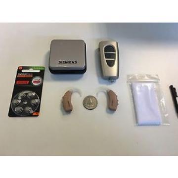 Siemens 2xDigital Hearing Aids Orion P BTE with Pro Pocket Remote