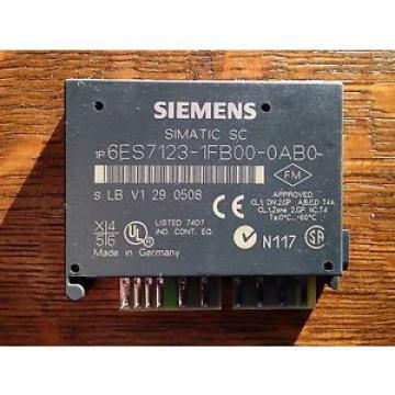Siemens BRAND NEW IN BOX Simatic SC 6ES7 123-1FB00-0AB0