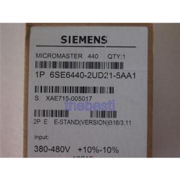 Siemens 1 PC  6SE6440-2UD21-5AA1 Inverter 6SE6 440-2UD21-5AA1 In Box