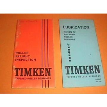Timken Train Railroad Manual BOOK Tapered ROLLER s 1967 Inspection Freigh