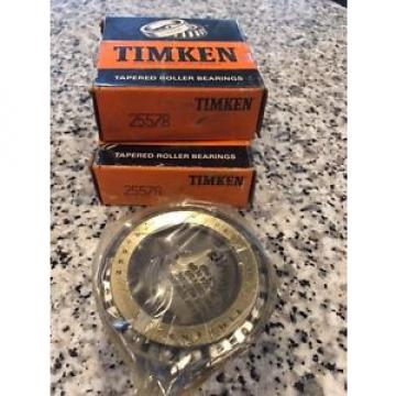 Timken set of 2. 25578 TAPERED ROLLER , SINGLE C. FREE SHIPPING