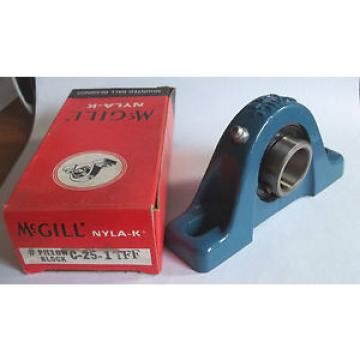 "McGill NYLA-K C-25-1 TFF Pillow Block Bearing for 1"" Shaft"