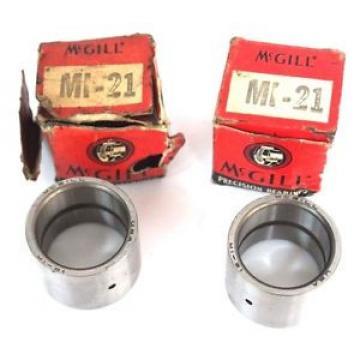 LOT OF 2  MCGILL MI-21 BEARING INNER RACE 1-15/16''D X 1-5/8''OD X 1'' W MI2