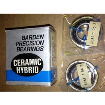 BARDEN PRECISION BEARINGS Ceramic Hybrid CZSB103JX2DM, Bore1OD2, 2PerBox