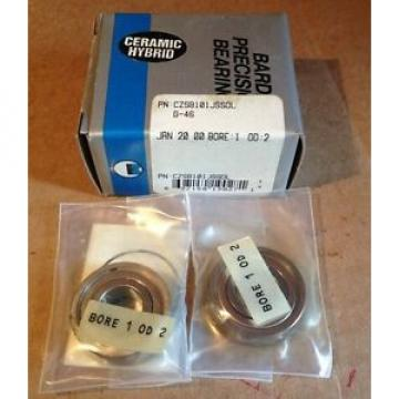 BARDEN PRECISION BEARINGS Ceramic Hybrid CZSB101JSSDL G-46 Bore1OD2, 2 PerBox