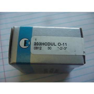 1/2 PAIR  BARDEN 203HCDUL REPLACES 203-HDL ABEC 7 ANGULAR CONTACT BEARING