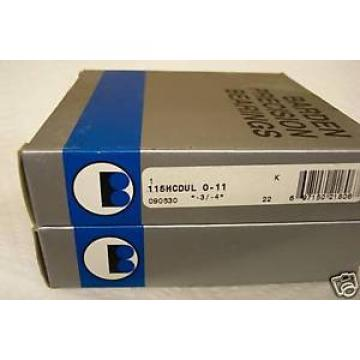 BARDEN 115HCDUL PRECISION ANGULAR CONTACT BEARINGS  IN