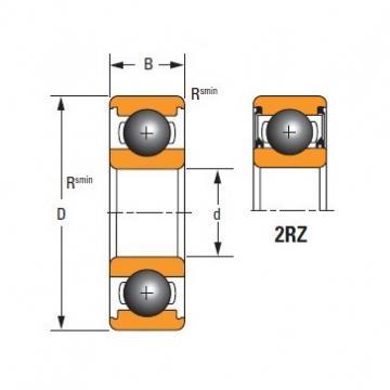 Timken SKF,NSK,NTN,Timken  6318-2RZ Standard 6000 Series Deep Groove Ball Bearing