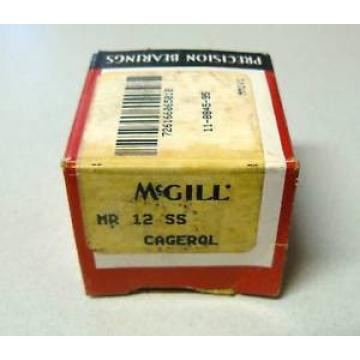 MCGILL MR-12-SS CAGED NEEDLE ROLLER BEARING