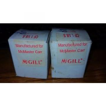 2 McGILL CAM FOLLOWER BEARINGS CF 1 1/8 S