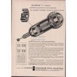1960 Barden Precision Ball Bearings Danbury CT T Retainer Print Ad