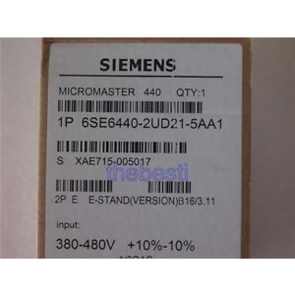 Siemens 1 PC  6SE6440-2UD21-5AA1 Inverter 6SE6 440-2UD21-5AA1 In Box #1 image