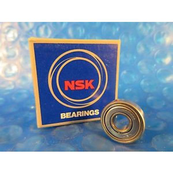 NSK 606ZZ, 606 ZZ Single Row Radial Bearing; 6 mm ID x 17 mm OD x 6 mm Country of origin Japan Wide #1 image