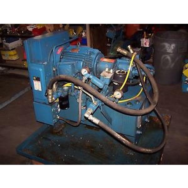 VICKERS 15 HP HYDRAULIC POWER UNIT 30 GALLON 3000 PSI PVQ20-B2R-SE1S-21 #1 image