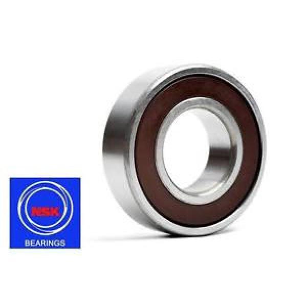 6206 30x62x16mm DDU Rubber Sealed 2RS NSK Radial Deep Groove Ball Bearing #1 image