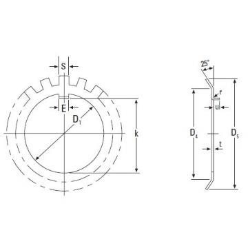 Original famous Timken  MB 17 Metric Lockwasher