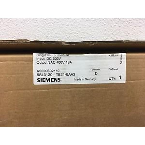 Original SKF Rolling Bearings Siemens Single Motor Module  6SL3120-1TE21-8AA3 #3 image